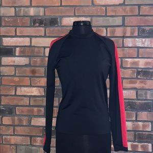 Black and red striped spandex Cold gear super warm